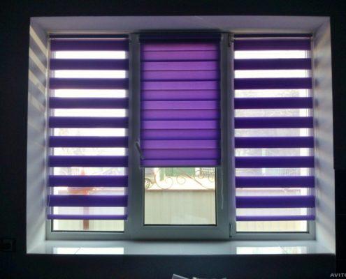день-ночь уни-2, ткань тусклый фиолет